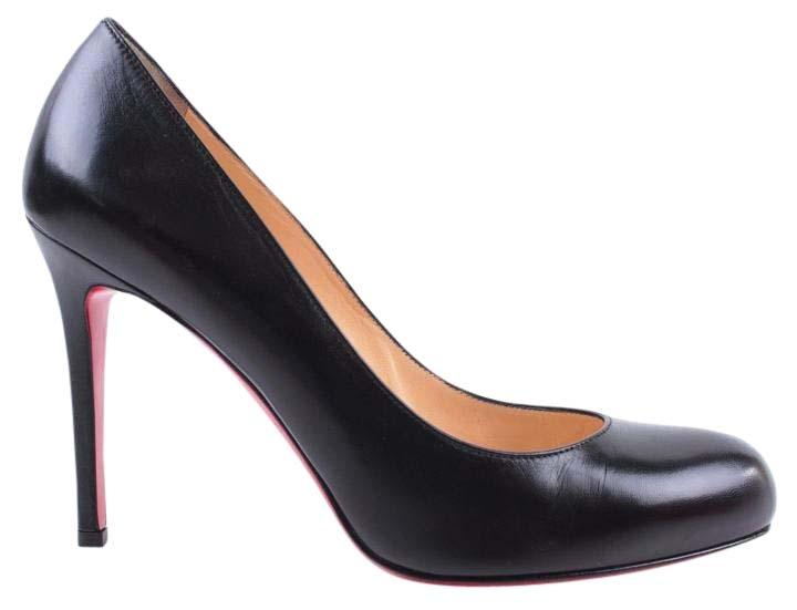 9c528bfc12ed Christian Louboutin Black Simple Simple Simple 100mm 39.5 9 Nappa Leather  Round Toe Pumps Size