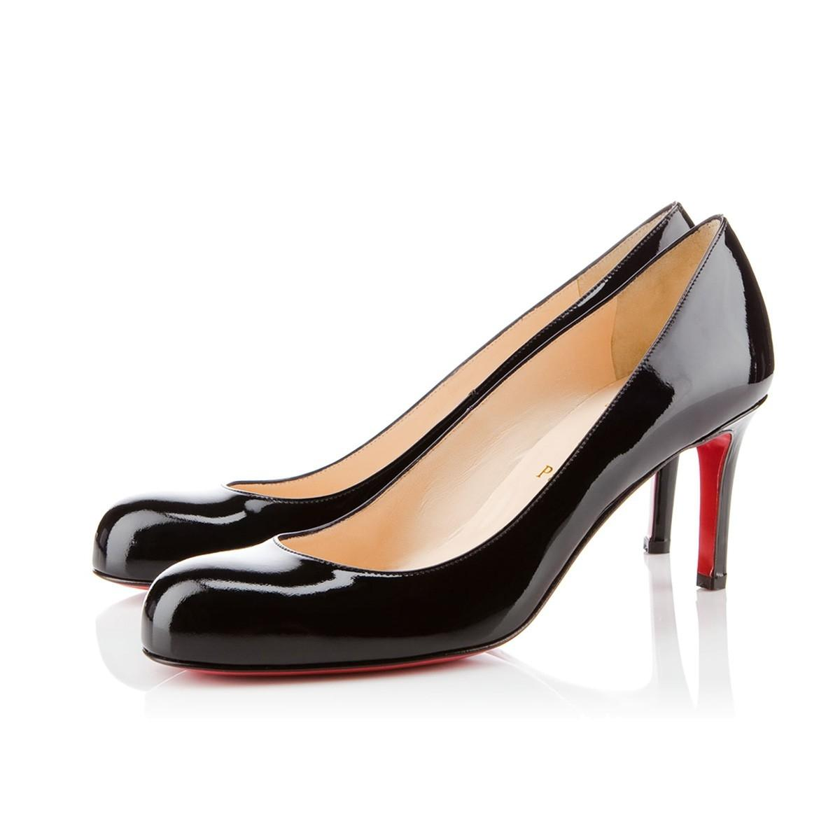 Christian Louboutin Black Simple 70 Patent Leather Classic Heel Pumps Size EU 35 (Approx. US 5) Regular (M, B)