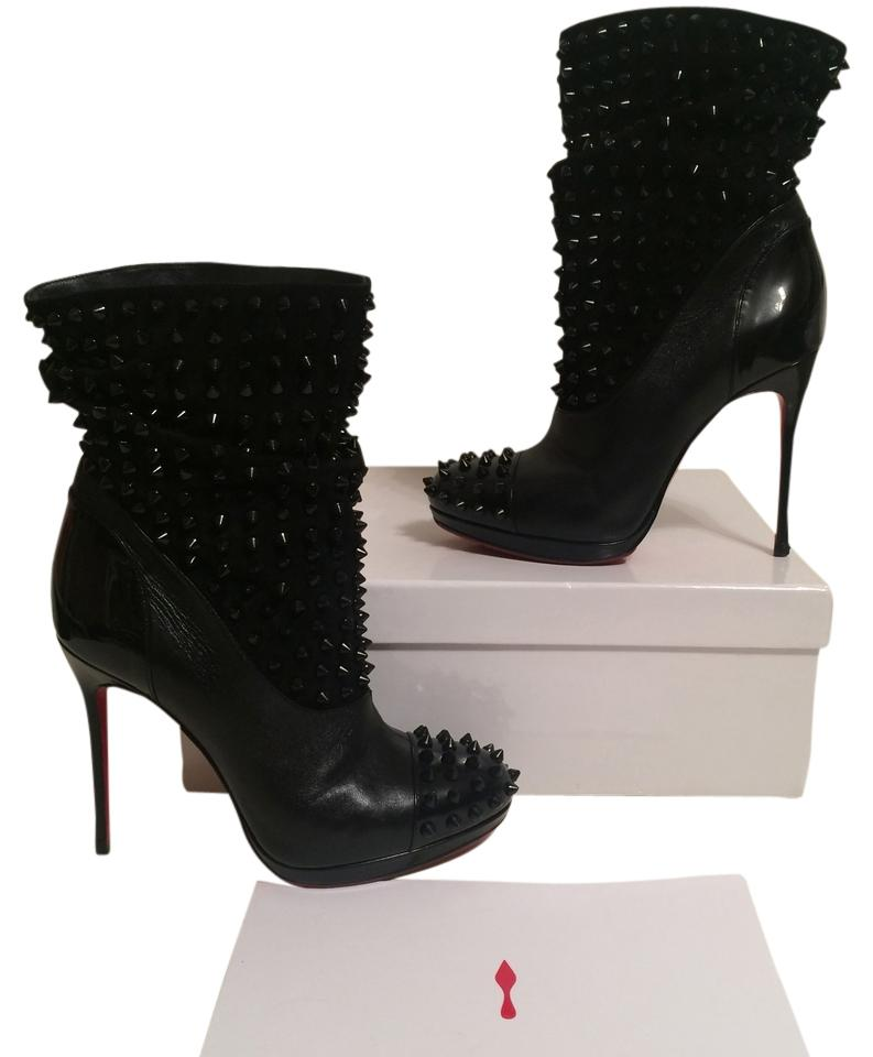 ad3fdbd54e02 ... discount code for christian louboutin black spike wars ankle 36.5 boots  booties size us 6 tradesy
