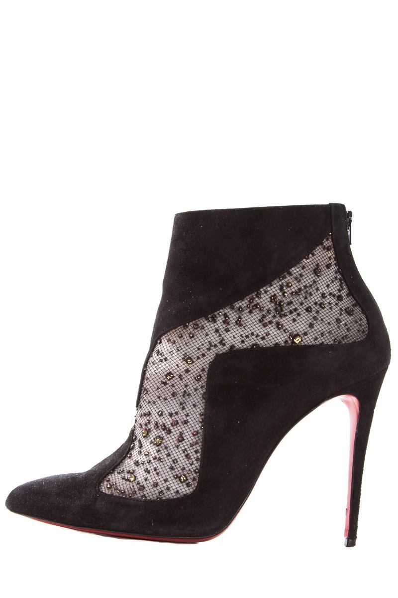 Christian Louboutin Black Suede Pointed-toe Boots/Booties Size EU 40 (Approx. US 10) Regular (M, B)