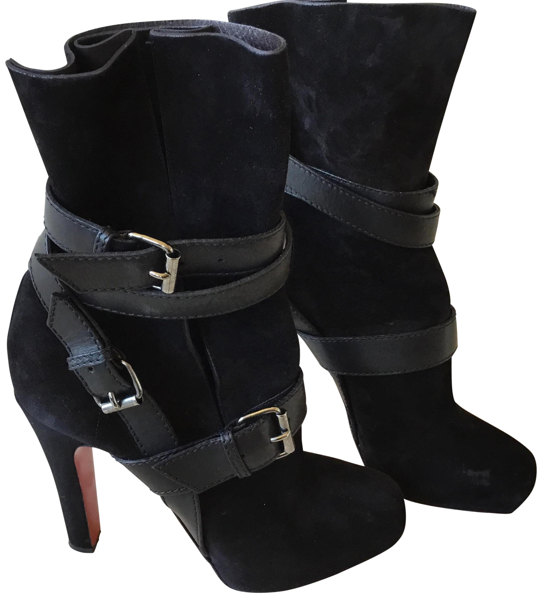 424333c2d554 Christian Louboutin Black Suede Square-toe Ankle Ankle Ankle Boots Booties  Size EU 38.5 (Approx. US 8.5) Regular (M