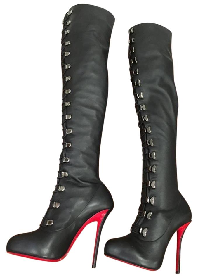 buy popular 52ee5 5a690 france louboutin boots croche top 22c4e 71269