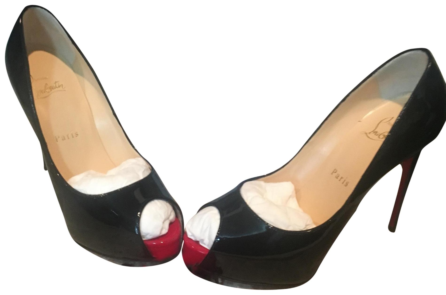 366394bf5354 Christian Louboutin Black Red Black Red Black Red New Very Prive Pumps Size