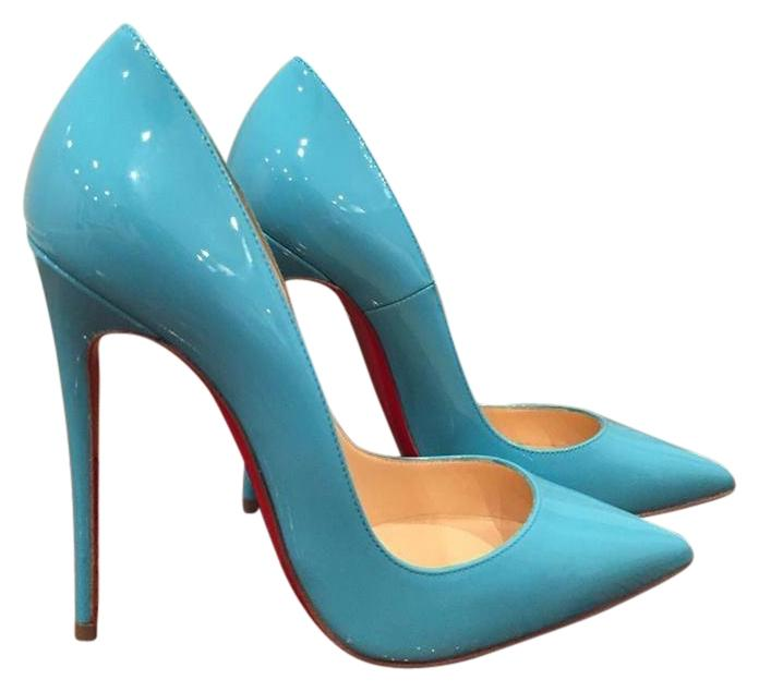 2aef85999ea6 Christian Louboutin Blue So Kate 120 Pacific Neon Patent Patent Patent Heel  37 Pumps Size US