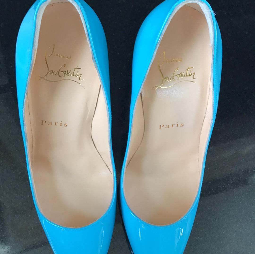 ef146ad1014 ... Christian Louboutin Blue So Kate Pacific Pacific Pacific Patent  Stiletto Pumps Size EU 35 (Approx ...