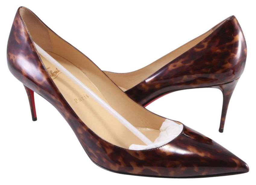 Christian Louboutin Brown Euro Decollete 70mm Print #a177 Pumps Size EU 42 (Approx. US 12) Regular (M, B)