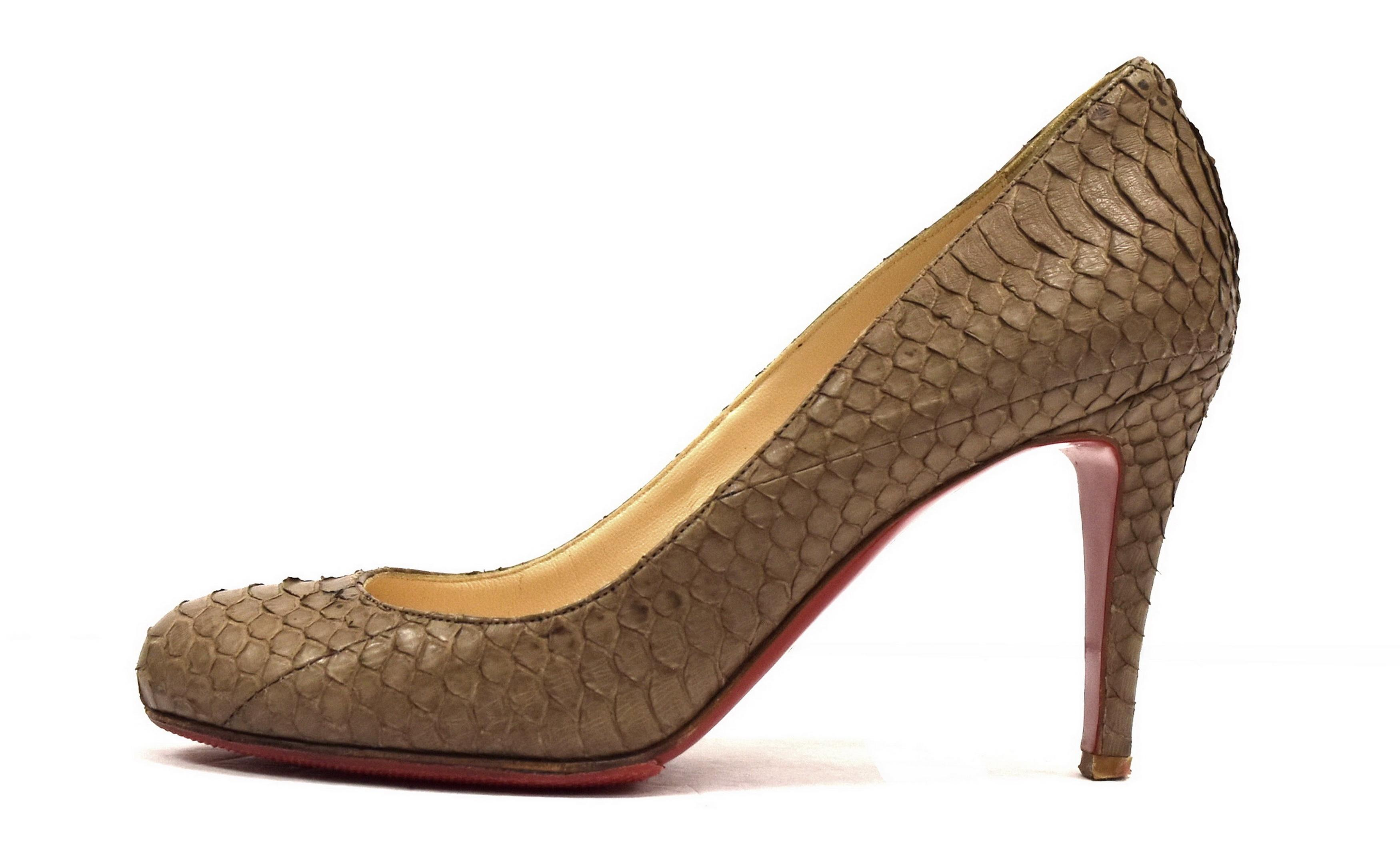 Christian Louboutin Brown Ron Ron 85 Watersnake Pumps Size EU 36 (Approx. US 6) Regular (M, B)
