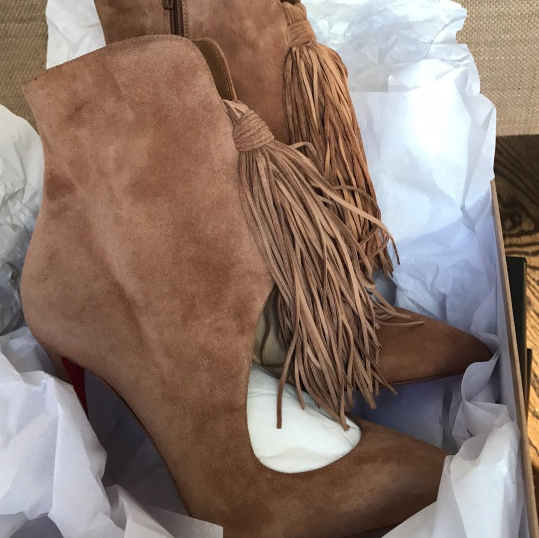 Christian Louboutin Ottocarl 100 Ankle Boots for sale finishline outlet newest official sale online free shipping pay with visa free shipping pay with paypal YKgIkYyxwP