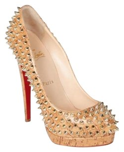 Christian Louboutin Gold Brown Pumps