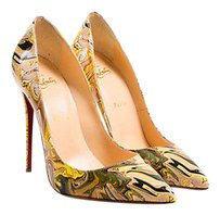 Christian Louboutin Patent So Kate 120 Pointy Toe Multi-Color Pumps
