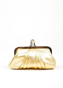 Christian Louboutin Gold Clutch