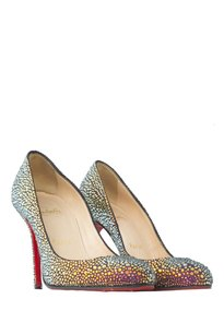 Christian Louboutin Crystal Embellished Leather Multi-colored Pumps