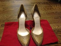 Christian Louboutin D'orsay Gold Pumps