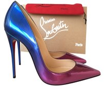Christian Louboutin Exclusive Luxury Spike purple/pink/BLUE Pumps
