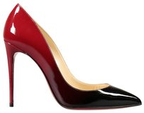 Christian Louboutin Gold back and red Pumps