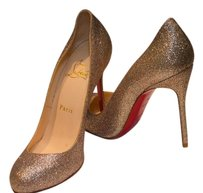 Christian Louboutin Gold Multicolor Glitter Pumps