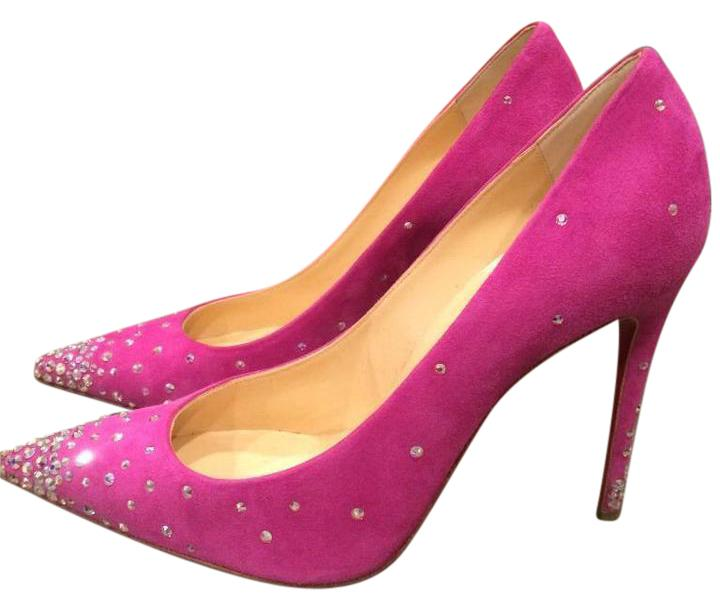 ded05f1fcee4 ... discount code for christian louboutin degrastrass crystal swarovski indian  rose pink pumps e3270 c9402