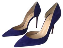 Christian Louboutin Iriza Stiletto Suede Cut-out Purple Pumps