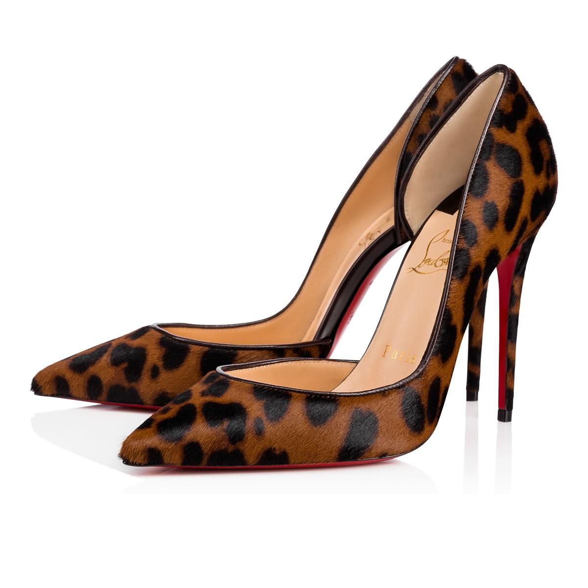 Christian Louboutin Leopard Iriza 100 Brown Pony Pumps Size EU 40.5 (Approx. US 10.5) Regular (M, B)