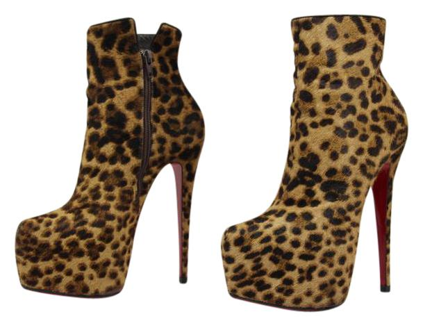 Christian Louboutin Leopard Ponyhair Ankle Boots cheap wholesale discount many kinds of free shipping hot sale discount best place cheap limited edition VTaLH