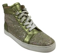 Christian Louboutin Metallic Yellow Green Flats