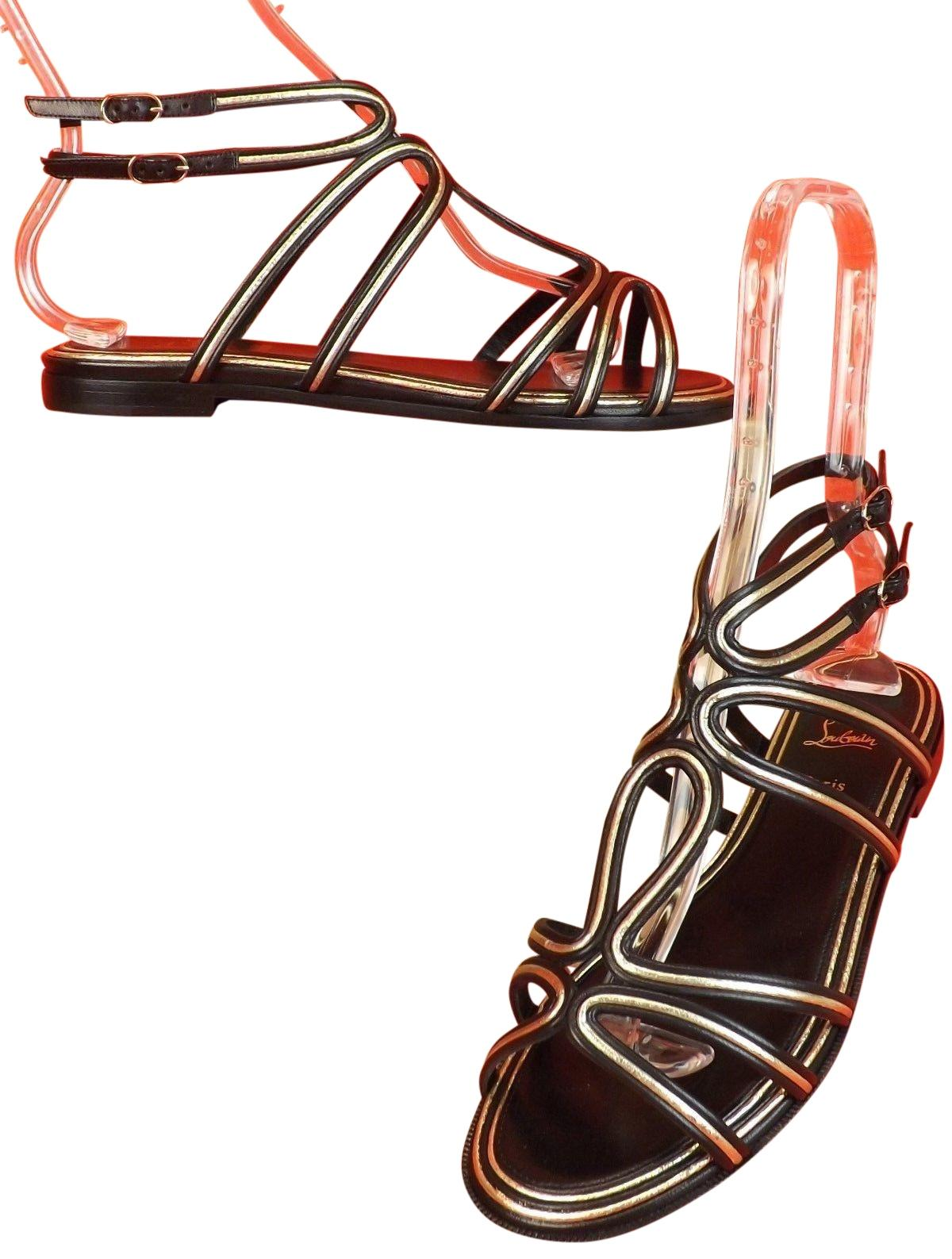 5211f9fc5ac2 ... leather gladiator sandals multi 9e3ad f1304  best price christian  louboutin multi colored sandals 32314 db775