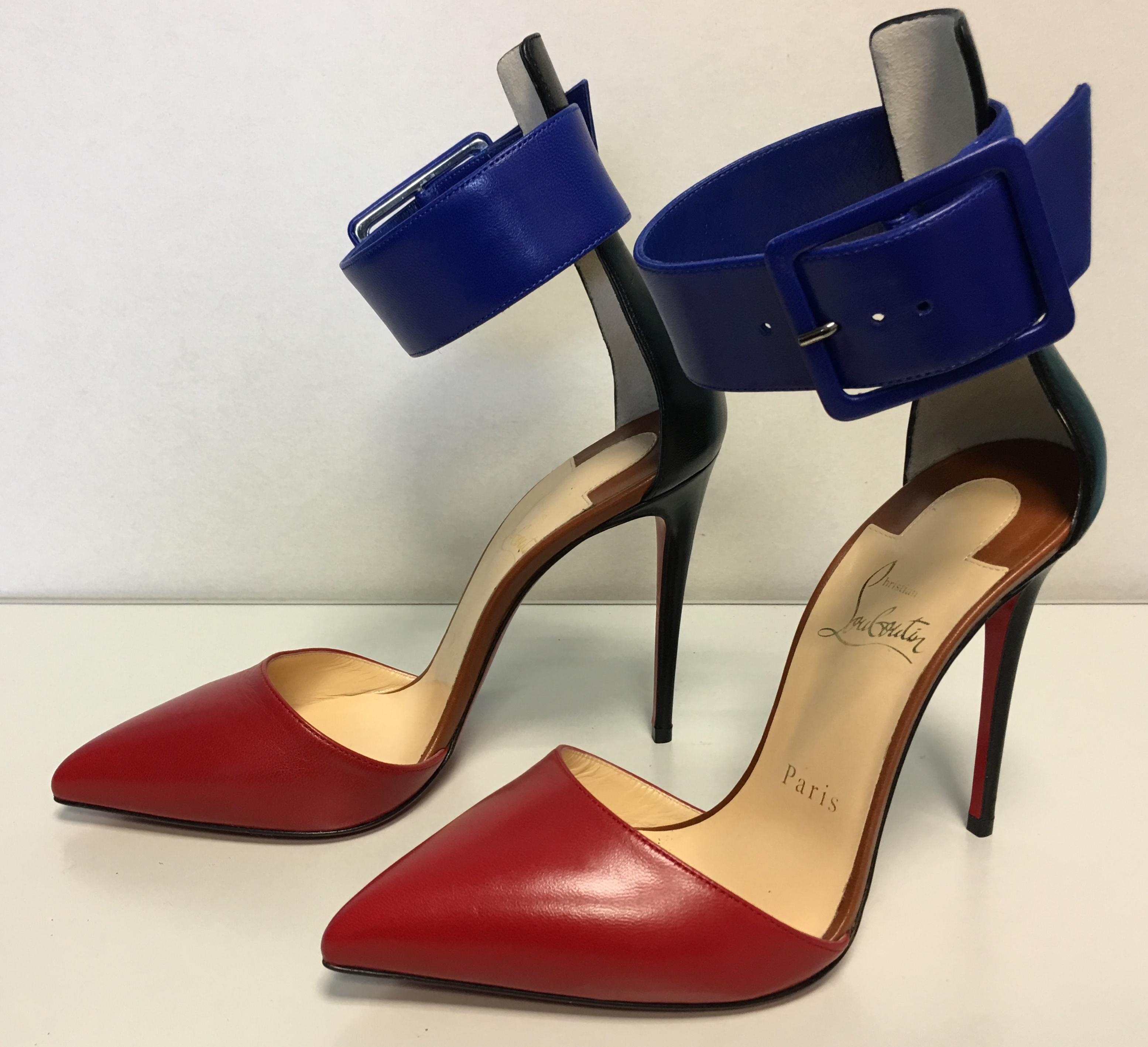 5e54b31b69b5 ... Christian Louboutin Multicolor Classic Harler 100mm Ankle Cuff D orsay  D orsay D  ...