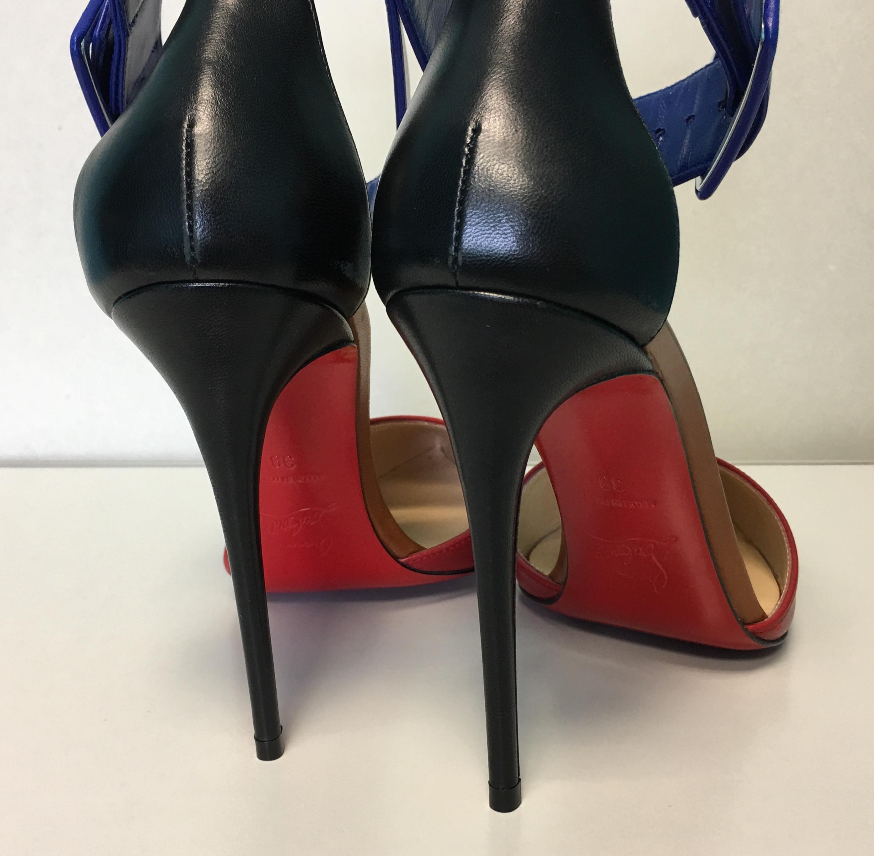 first rate ec504 a3d49 Christian Louboutin Multicolor Classic Harler 100mm Ankle ...