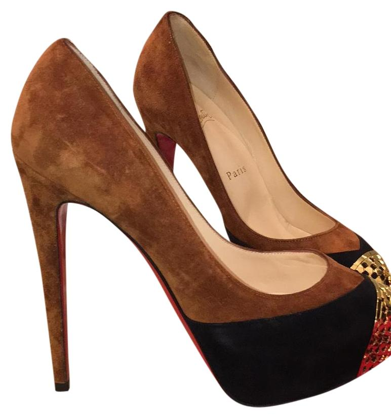 Christian Louboutin ~new Sold Out Store Wide Platforms Size US 6 Regular (M, B)