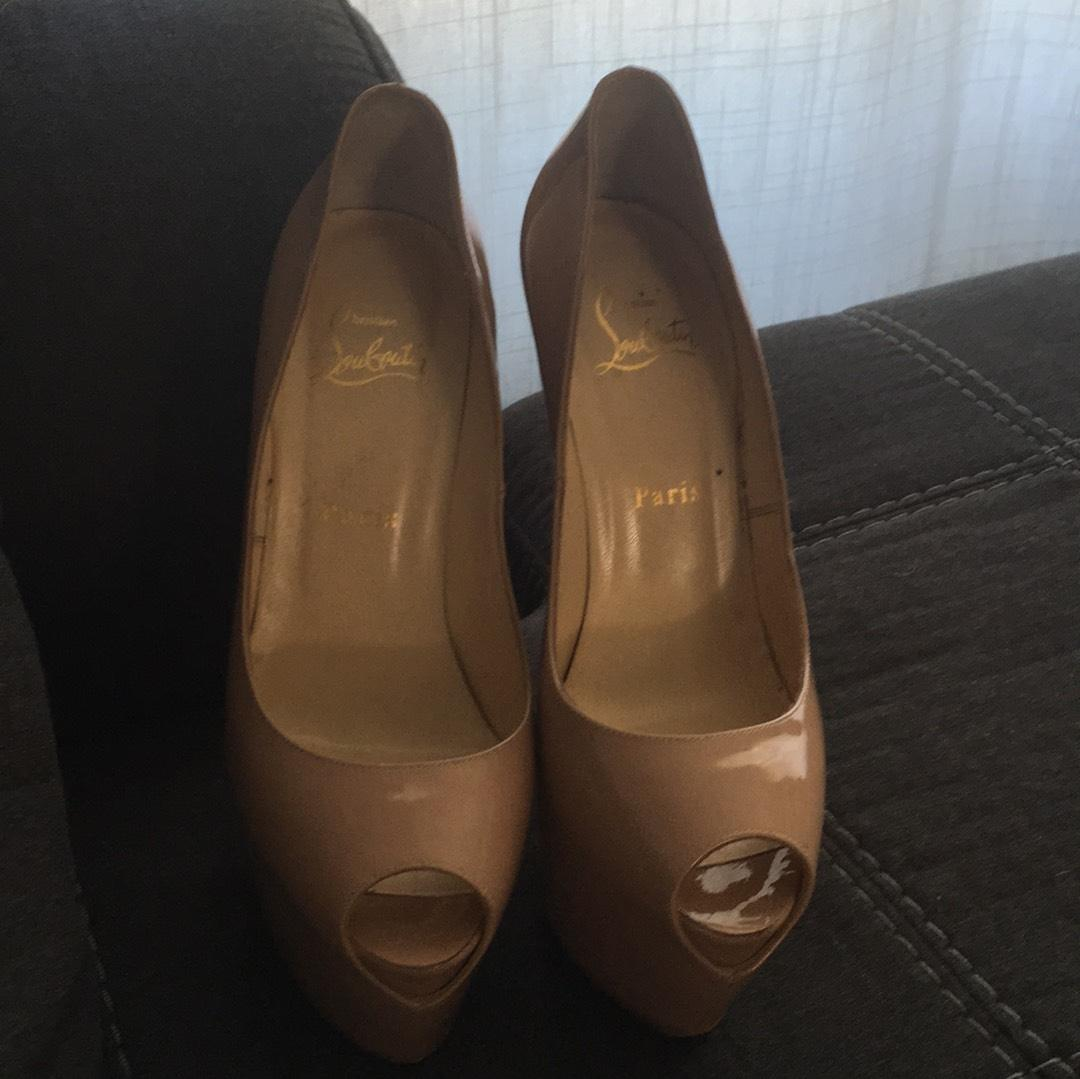 74cc887689b Gentlemen/Ladies-Christian Louboutin Nude Highness Platforms Size US ...