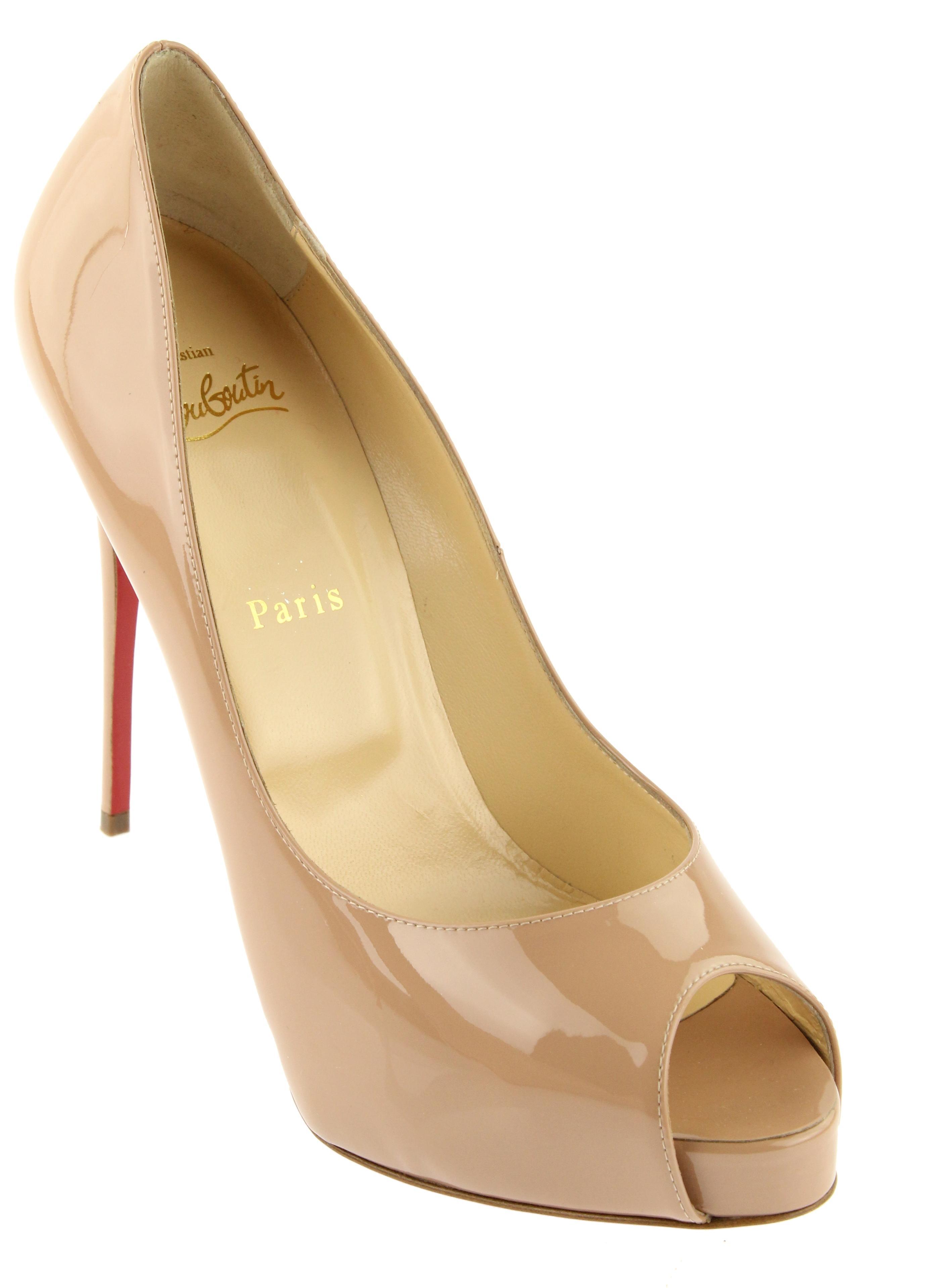 Christian Louboutin Nude New Very Prive Patent Pumps Size EU 40.5 (Approx. US 10.5) Regular (M, B)