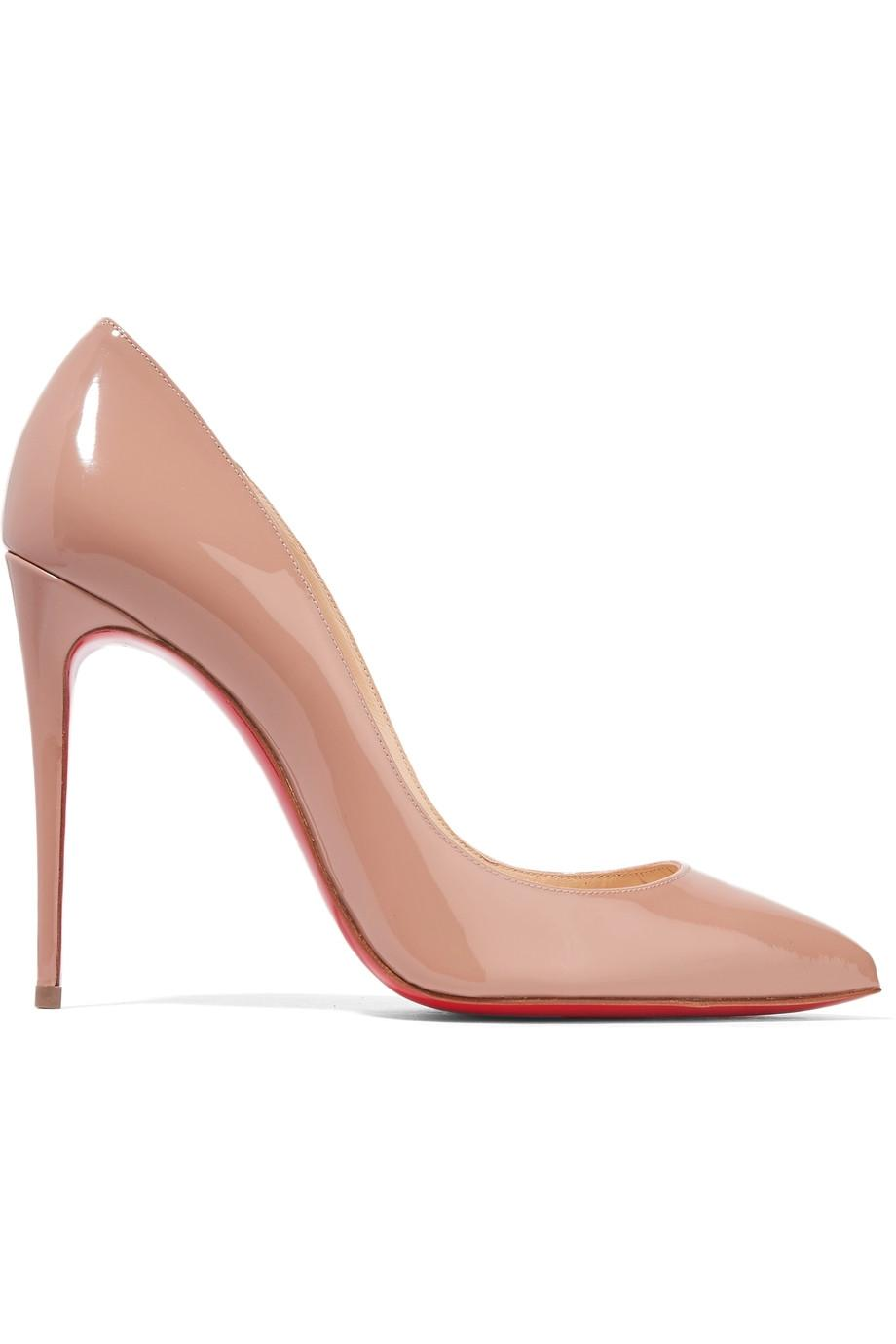 Christian Louboutin Nude Patent - Pigalle Leather 100mm Pumps Size EU 41 (Approx. US 11) Regular (M, B)