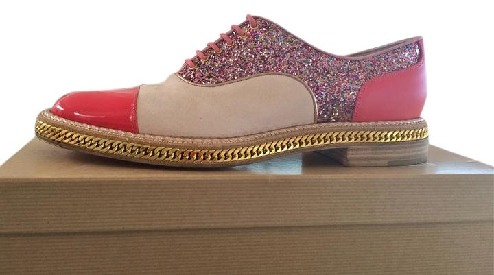 Christian Version Louboutin Pink/Beige Latcho / Version Christian Poudre Flats Size US 9.5 Regular (M, B) d854e1
