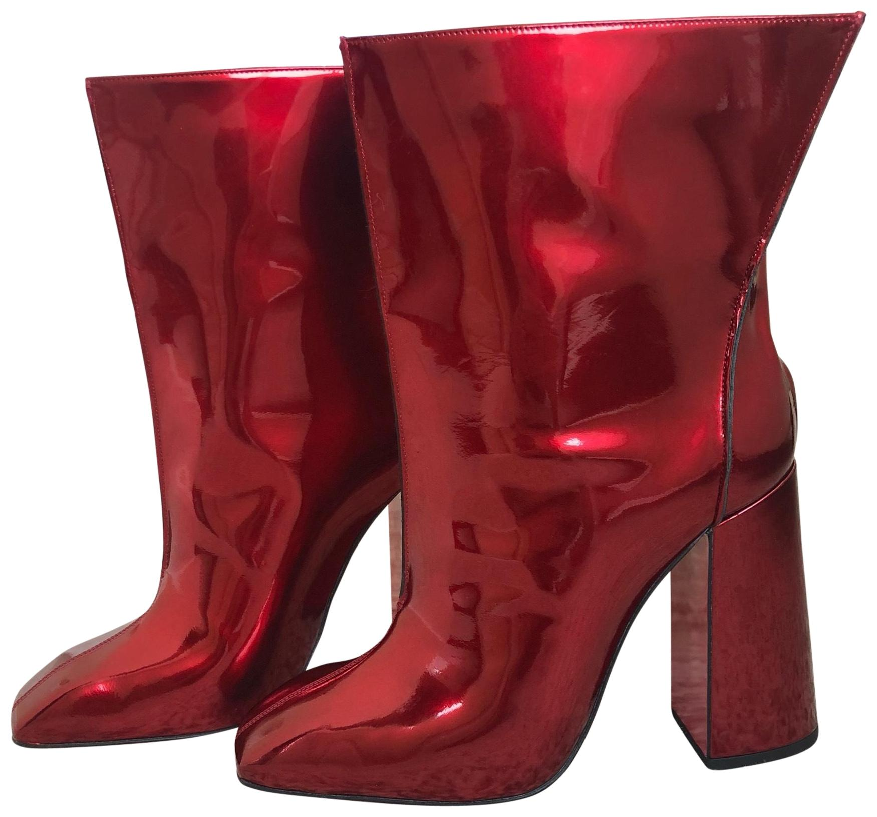 Christian Louboutin 10 Red Hilconissima 100mm Patent Boots/Booties Size US 10 Louboutin Regular (M, B) a0d62a