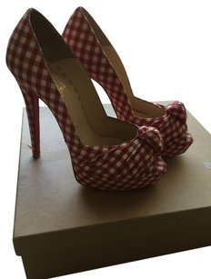 Christian Louboutin Red n white Pumps