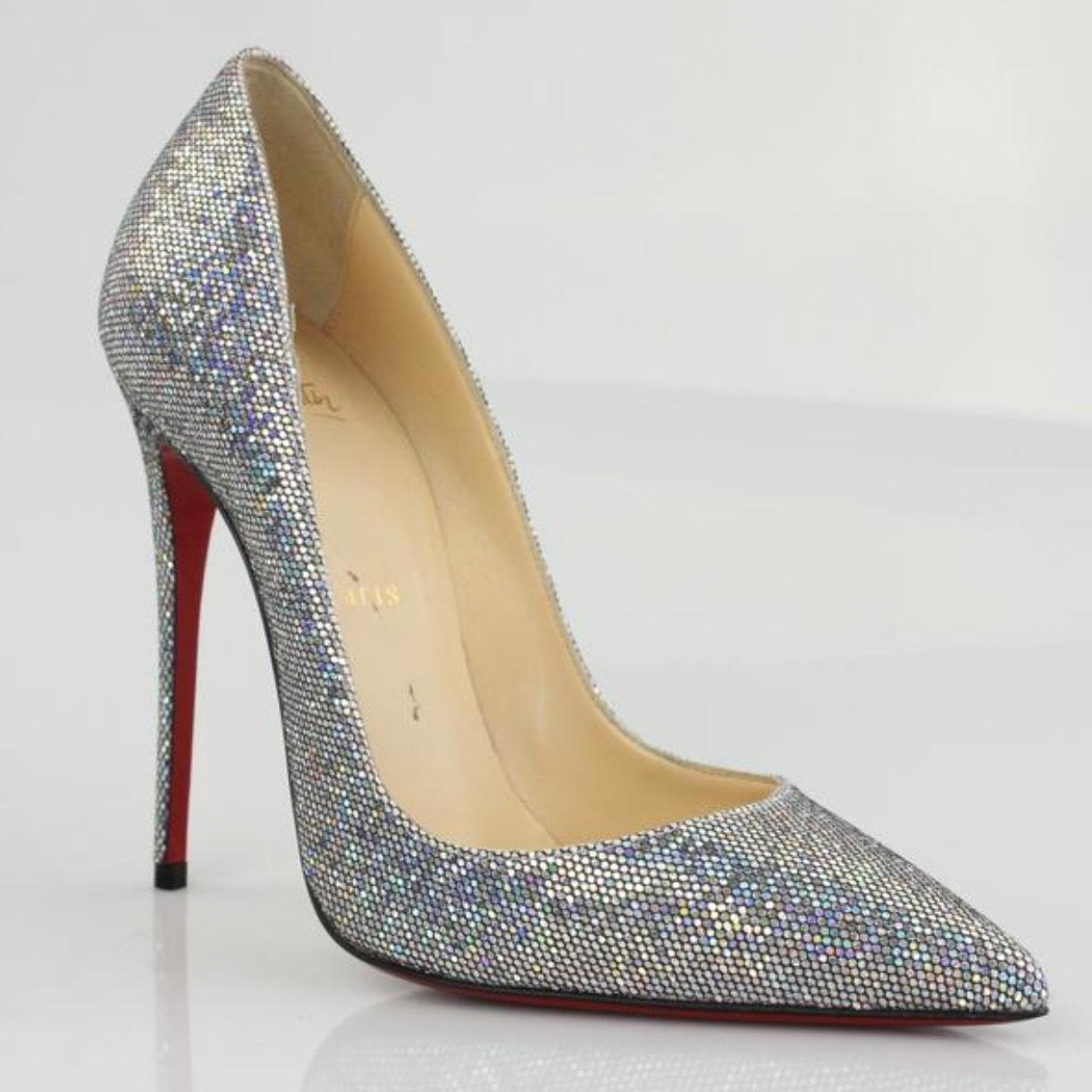 abc3ce50763 Christian Louboutin Silver Silver Silver Like New So Kate 120 Glitter Disco  Ball Pumps Size EU