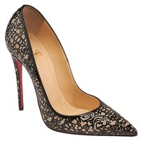 Christian Louboutin So Pretty 120 Glitter Patent Black Pumps