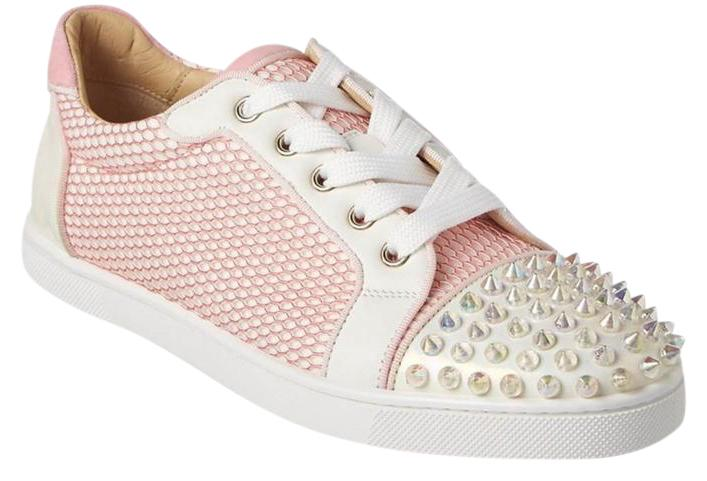 420b46d10abd ... netherlands christian louboutin spike mesh sneakers pink athletic f3e36  ee4d8 ...