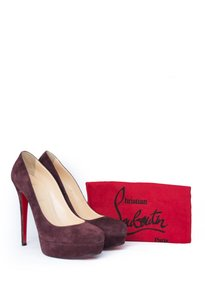 Christian Louboutin Suede Pump Leather Bordeaux Pumps