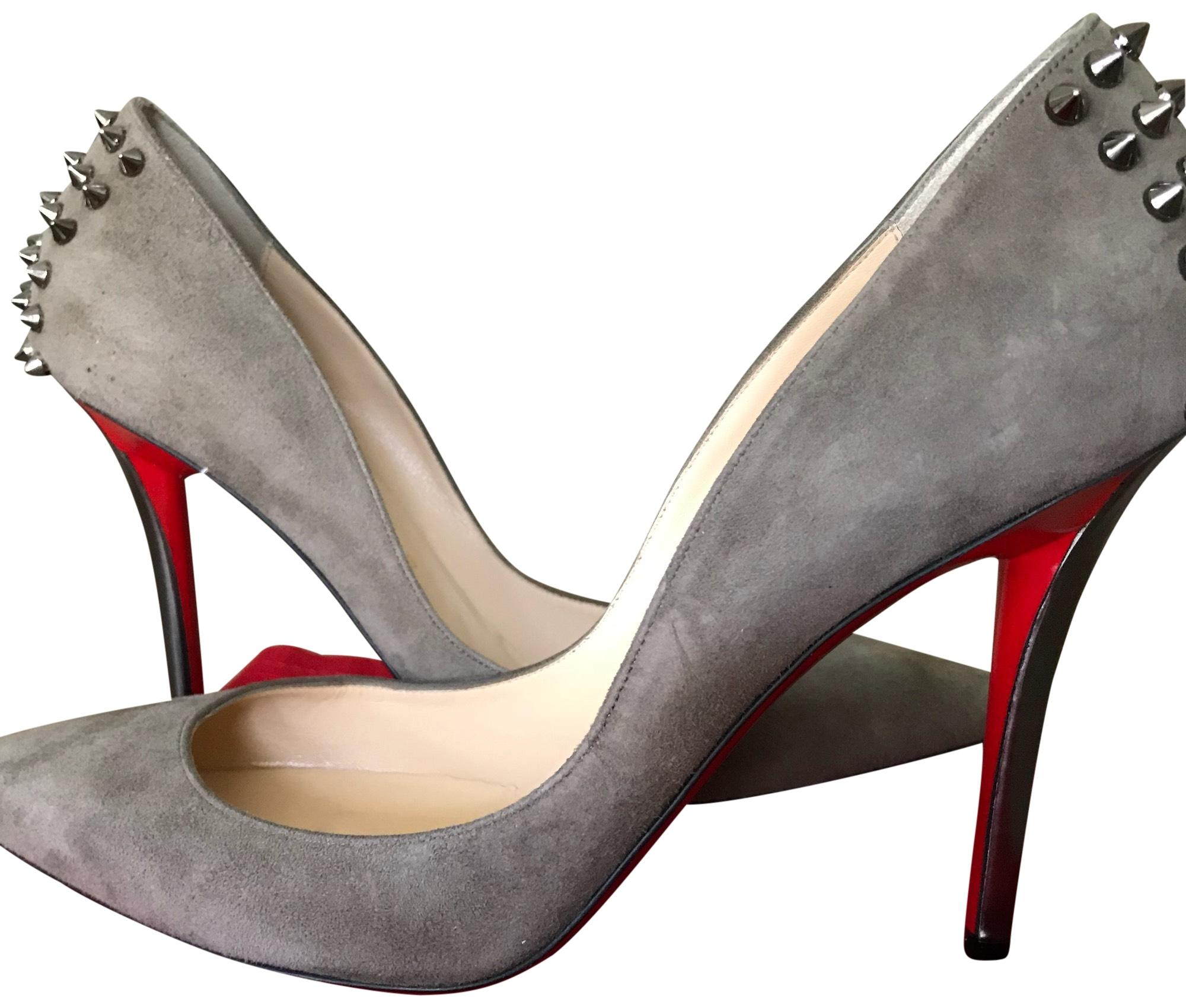 a72ccc63a20 Christian Louboutin Taupe Zappa 100 Pumps Size EU 40.5 (Approx. (Approx. ( Approx. US 10.5) Regular (M