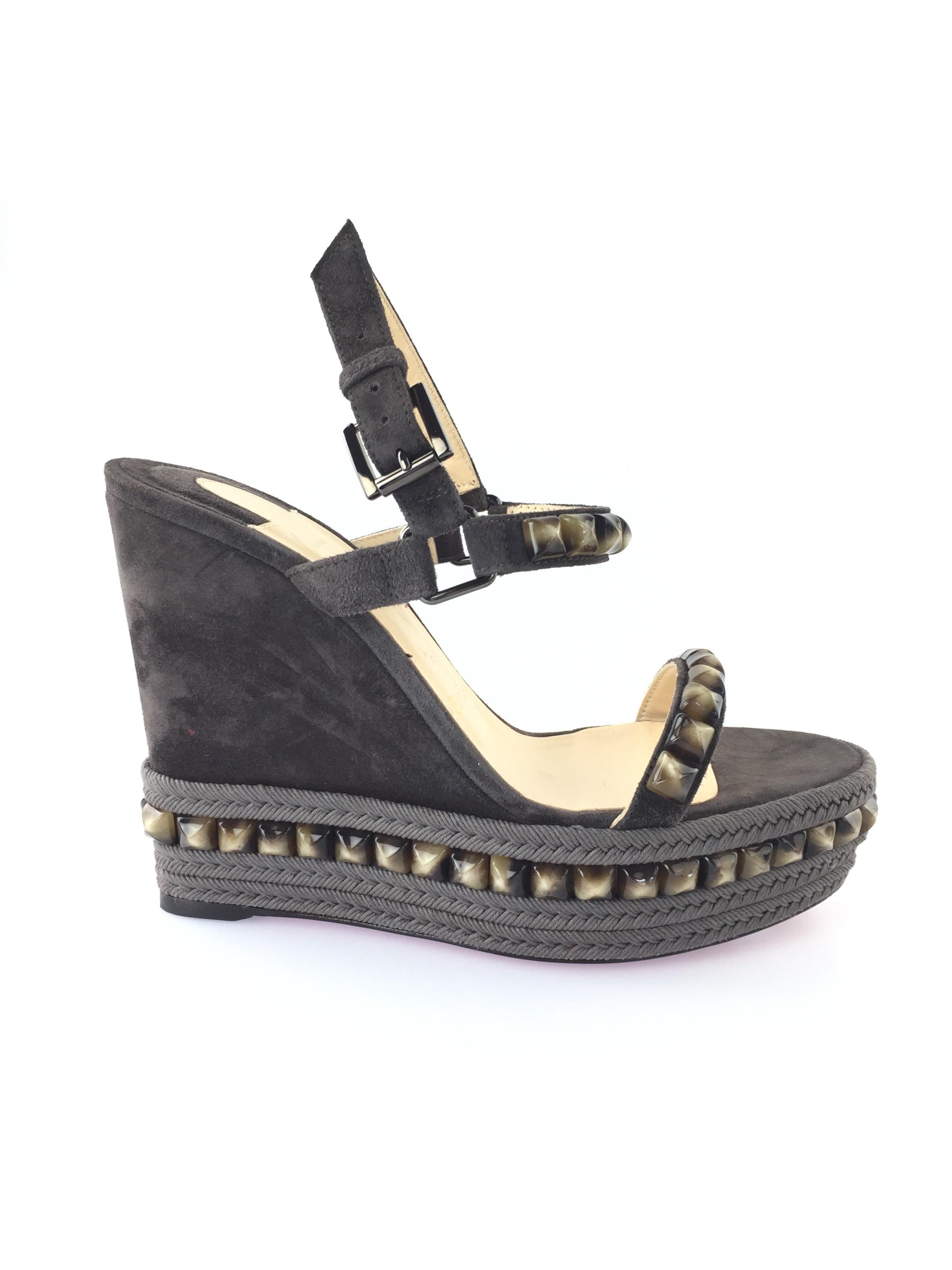 12fcd1f27c91 ... coupon christian louboutin cataclou espadrilles studded sandals testa  di moro wedges d635c 17ced