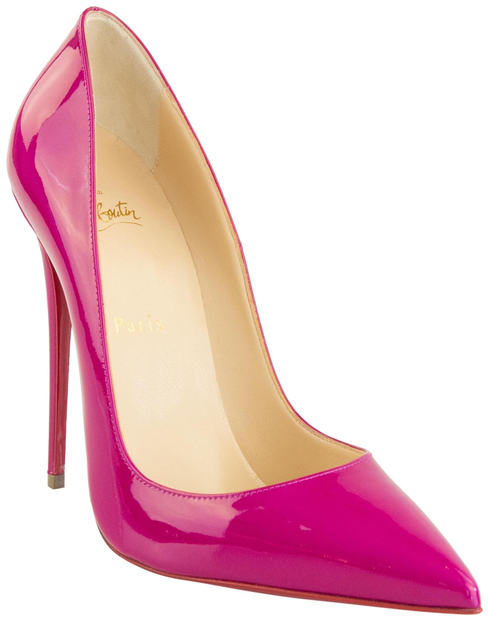 9b2737270c30 Man s Woman s   Christian Louboutin Ultra Rose So So So Kate 120 Patent  Pumps Size