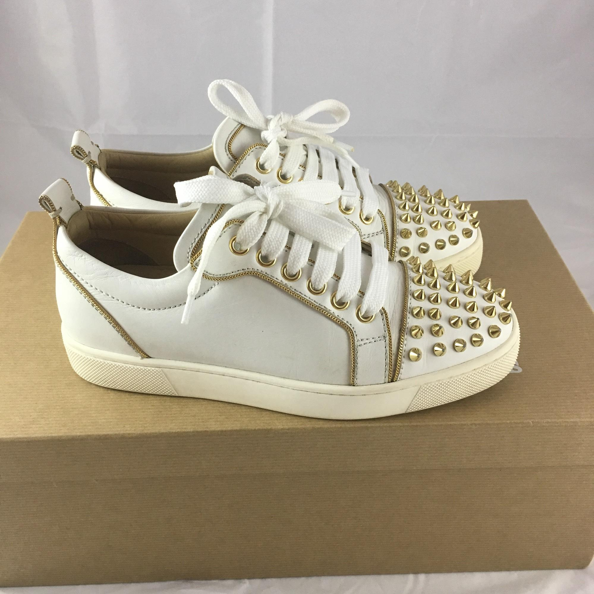 christian louboutin white athletic shoes on sale 59