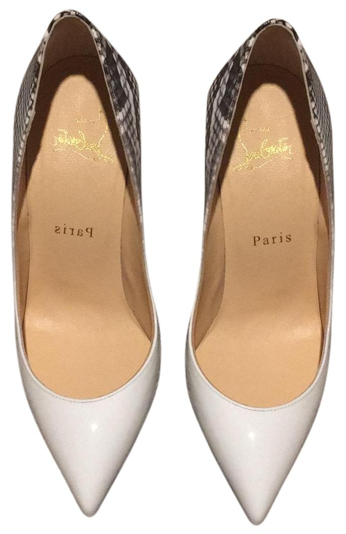 Christian Louboutin White Pigalle Follies 100 Flanelle Pumps Size EU 36 (Approx. US 6) Narrow (Aa, N)