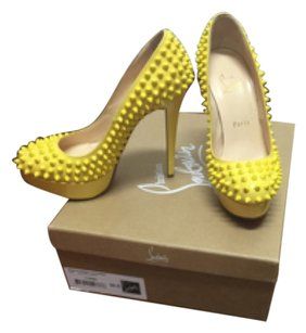Christian Louboutin yellow Platforms