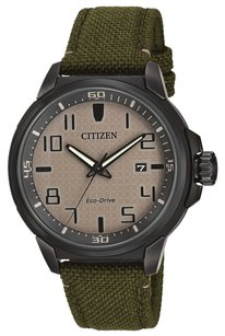 Citizen Citizen AW1465-14H Eco-Drive Men's Military Green Strap Beige Dial Sport Watch