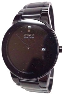 Citizen Citizen Axiom Eco Drive Black Ion-plated Mens Watch Au1065-58 Links Missing