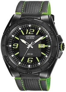 Citizen Citizen Eco-drive Brt Leather Mens Watch Aw1385-11h
