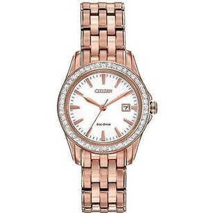 Citizen Citizen Eco-drive Ladies Silhouette Crystal Date Watch Ew1903-52a