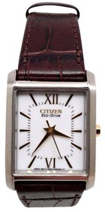 Citizen Ladies Citizen Eco-drive Classic Square Brown Leather Casual Watch Ep5914-07a